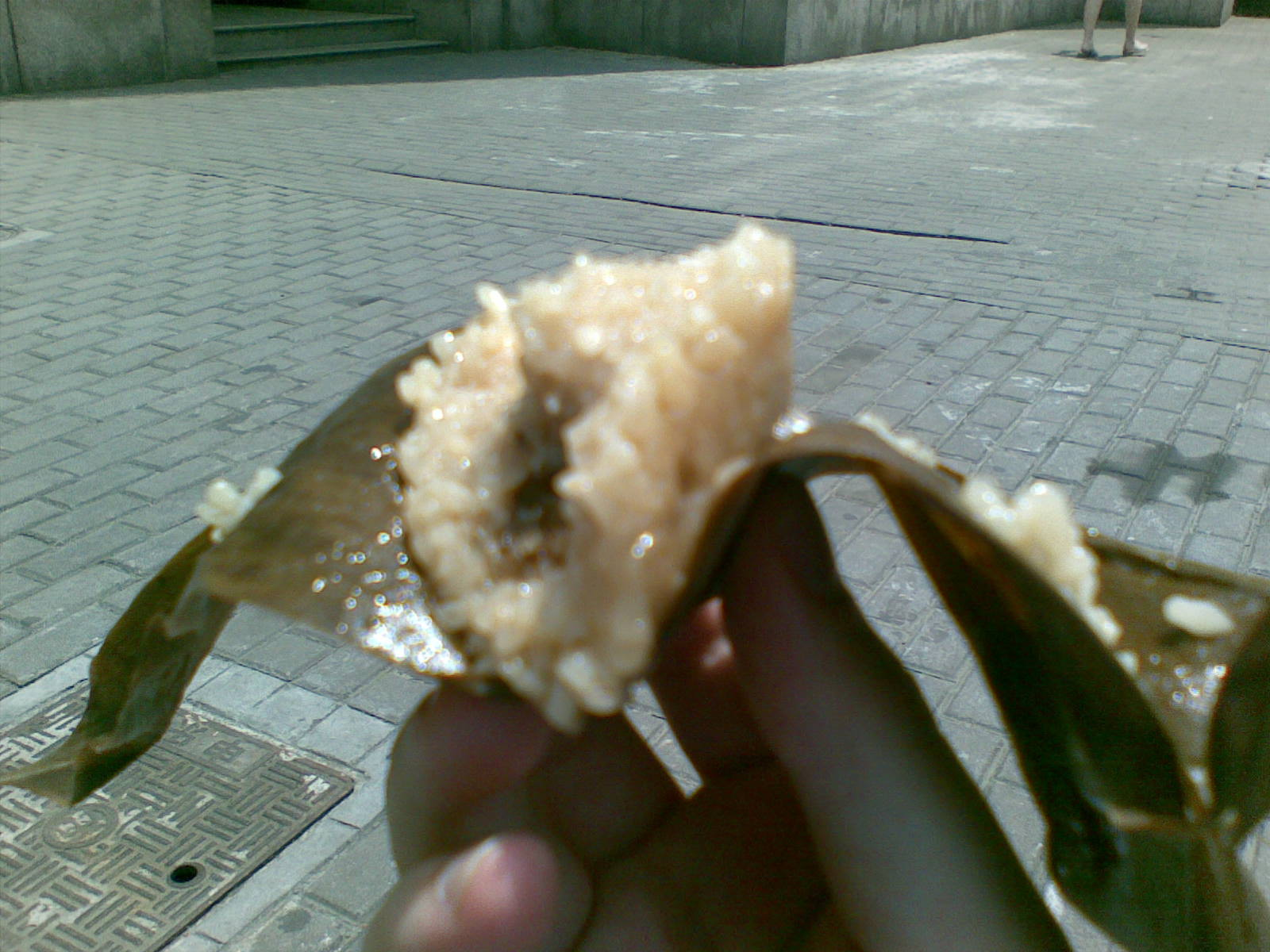 Street vendor sticky rice cube
